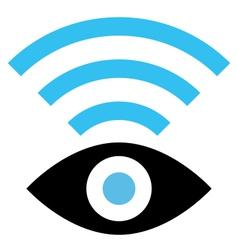 Spy WiFi icon vector image