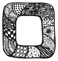 Hand drawn doodling frame for text or photo vector
