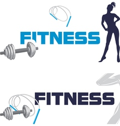 Fitness banners for design vector