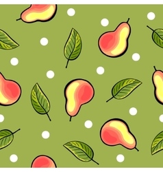 Seamless hand drawn pear pattern vector