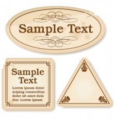 antique labels vector image