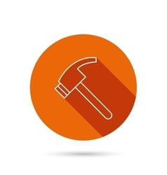 Hammer icon repair or fix tool sign vector