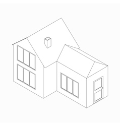 House with detached entrance icon vector