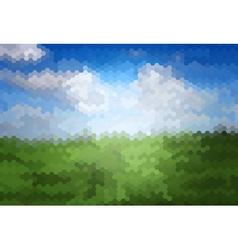 Mosaic artistic background of grass vector