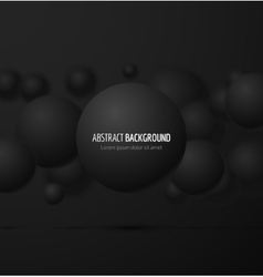 Black realistic sphere vector