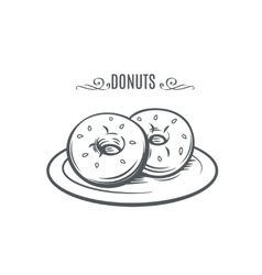 Hand drawn donuts vector