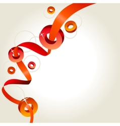 abstract background with red ribbon vector image vector image