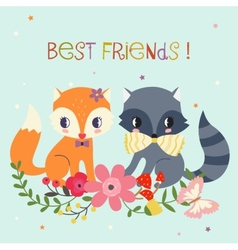 Best Friends Background vector image vector image