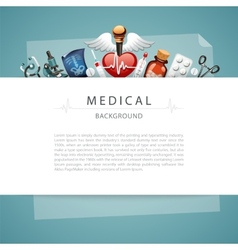 Blue medical background with copy space vector