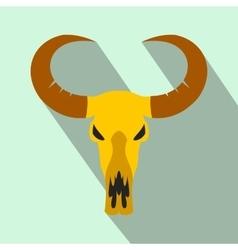 Buffalo skull flat icon vector
