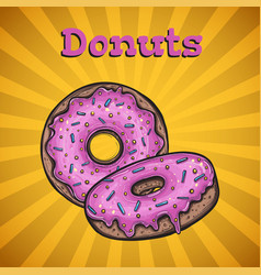 donuts menu cover vector image vector image