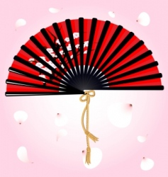 fan and petals vector image