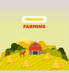 Farm surroundings grounds fields agriculture vector