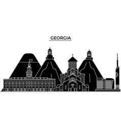 Georgia architecture city skyline travel vector