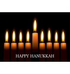 Hanukkah candles vector image