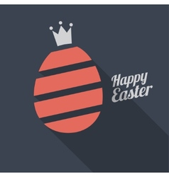 Happy Easter Egg logo vector image vector image