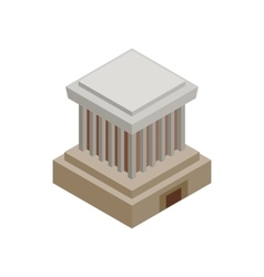 Ho chi minh mausoleum icon isometric 3d style vector