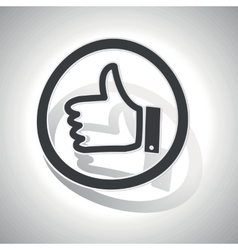 Like sign sticker curved vector