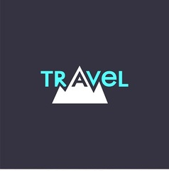 logo with word travel and mountains vector image