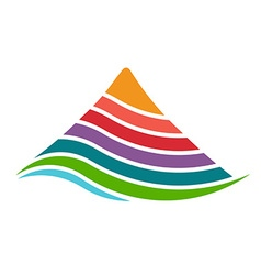 Mountain by layers logo vector image vector image