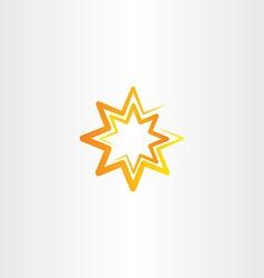 orange star stylized lcon symbol vector image