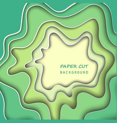 Paper cut background vector