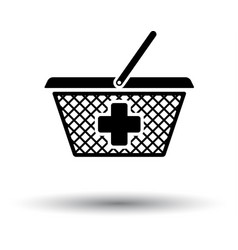 Pharmacy shopping cart icon vector
