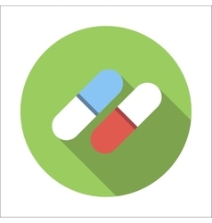 Pills flat icon vector