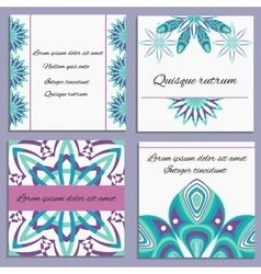 Set ornament invitation with isolated decorative vector image vector image