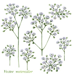 Small flowers vector image