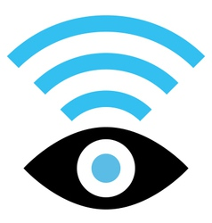 Spy wifi icon vector