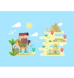 Travel traveler concept design flat vector image vector image