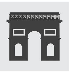 Triumphal arch icon vector