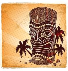 Vintage Aloha Tiki vector image vector image