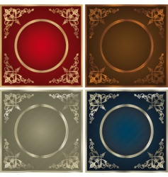 vintage backgrounds set vector image vector image
