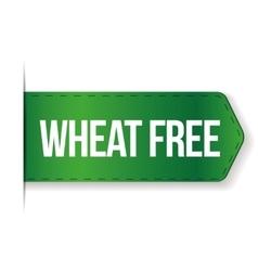 Wheat Free sign ribbon vector image vector image