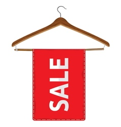 hangers with sale vector image