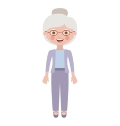 Isolated grandmother cartoon design vector