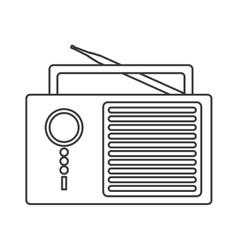 radio retro audio device vector image