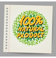 Natural product icon in doodle style vector image
