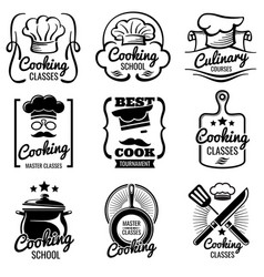 Vintage cooking in kitchen classes vector