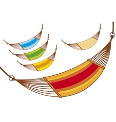 Hammock set vector