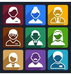 User flat icons set 11 vector image