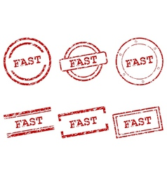 Fast stamps vector image