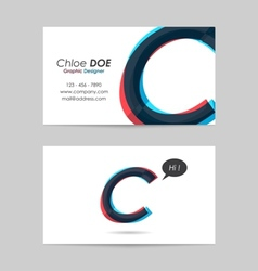 Business card template - letter c vector