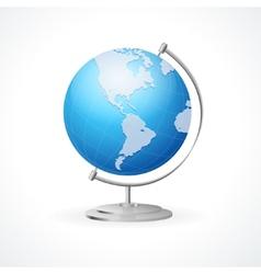 school Globe isolated on white vector image