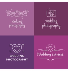 Wedding photography logo vector