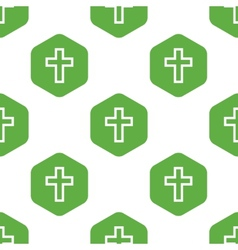 Christian cross pattern vector