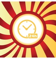 24h workhours abstract icon vector