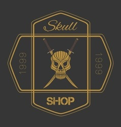 Skull badges vector